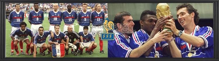 Comprar Camisetas de Futbol Francia 1998